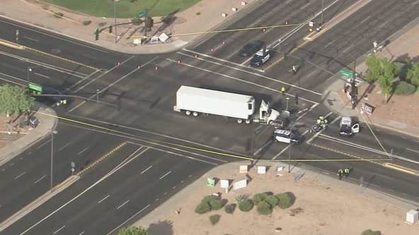 PD: Woman killed in Gilbert crash involving 18-wheeler truck