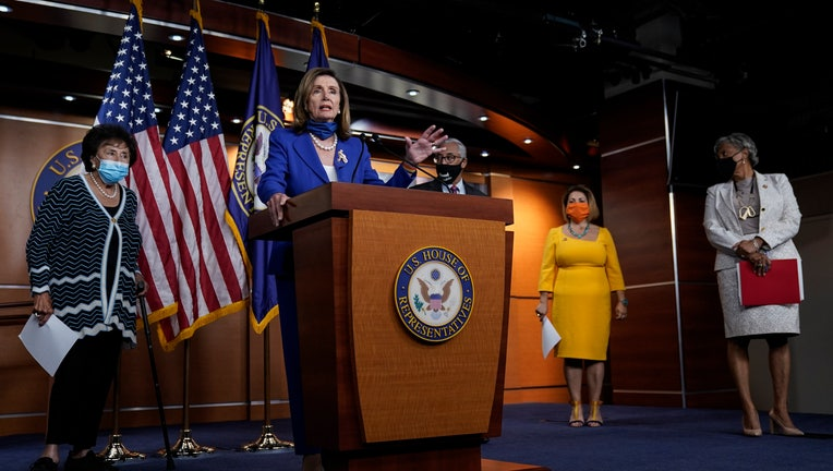 Pelosi, House Democrats Hold Press Conference On Child Care Legislation