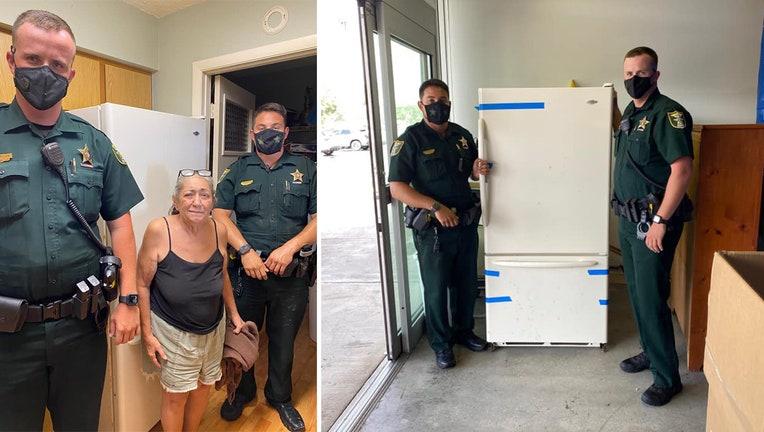 martin county deputies deliver fridge