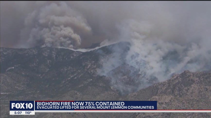 Some evacuations lifted at Mount Lemmon near Bighorn Fire in Pima County