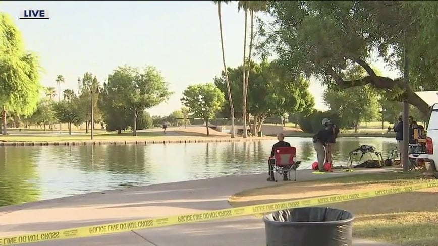 Phoenix crews working to recover body of man from lake in Cesar Chavez Park