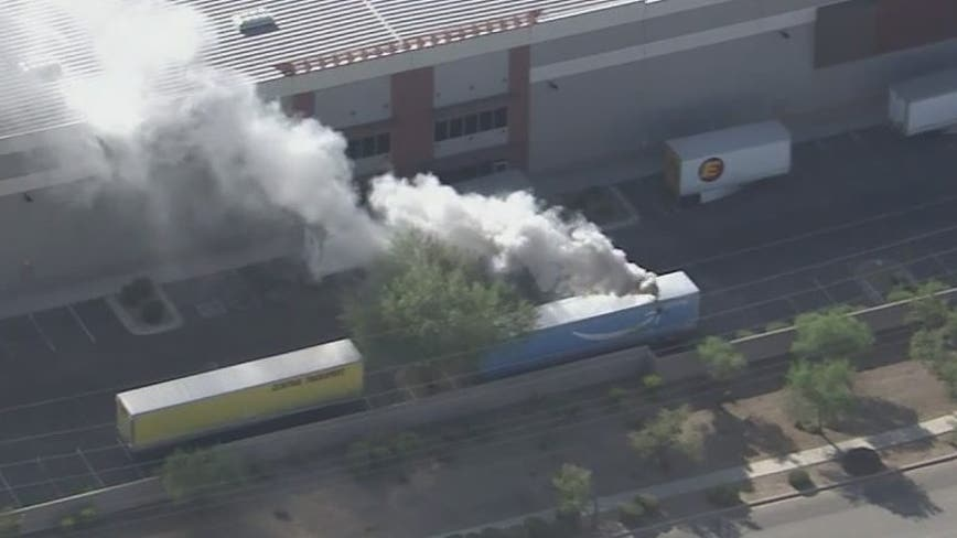 Amazon warehouse evacuated in Phoenix due to hazmat fire