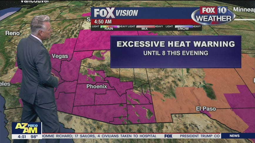 Excessive Heat Warning in effect for 13 Arizona counties through July 13