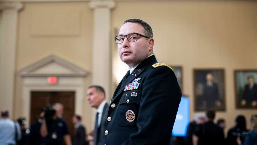 Vindman retiring from Army, lawyer blames Trump