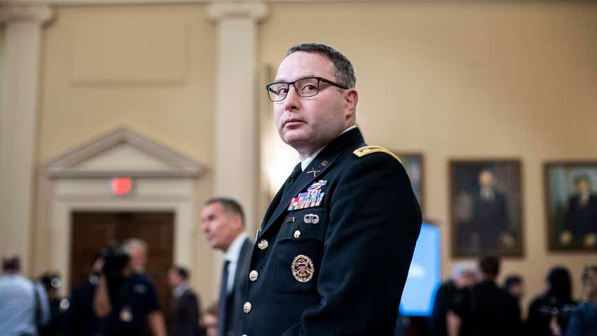 Vindman retiring from Army, lawyer blames Trump