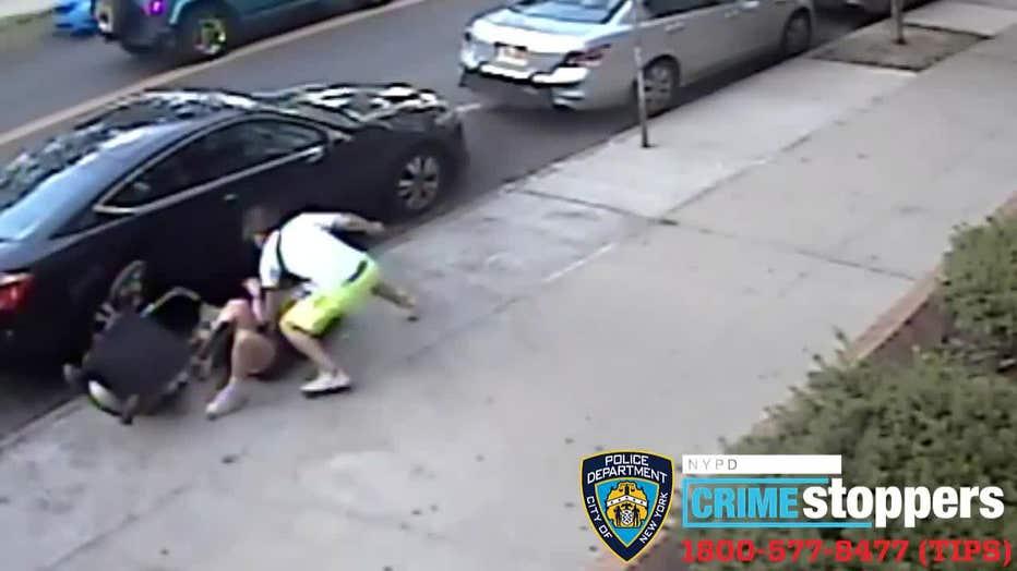 Man attacks ex-girlfriend pushing baby in stroller