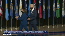 Joe Biden and his VP pick, Senator Kamala Harris, make first appearance as runnning mates