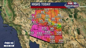 Excessive Heat Warning issued for 9 Arizona counties