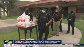 Glendale siblings donate gift bags to more than 100 police officers