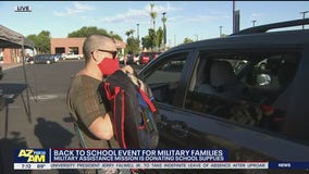 Military Assistance Mission donates school supplies