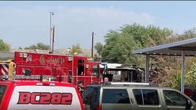 Man hospitalized following mobile home fire in Chandler