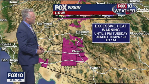 Excessive Heat Warning continues throughout Arizona; temperature record broken again in Phoenix