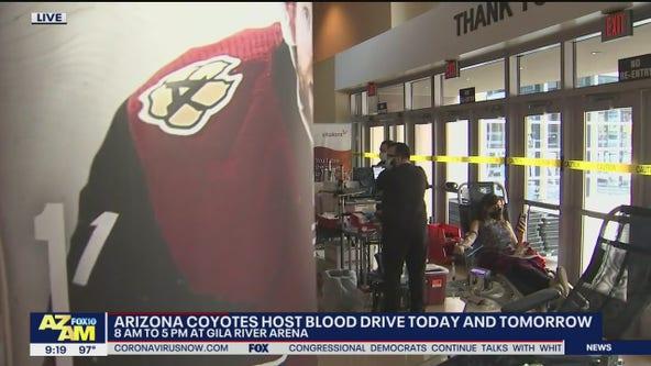 Arizona Coyotes host blood drive at Gila River Arena