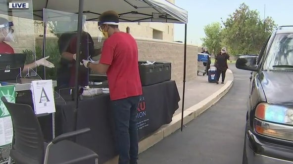 Phoenix Union High School District holds food distribution
