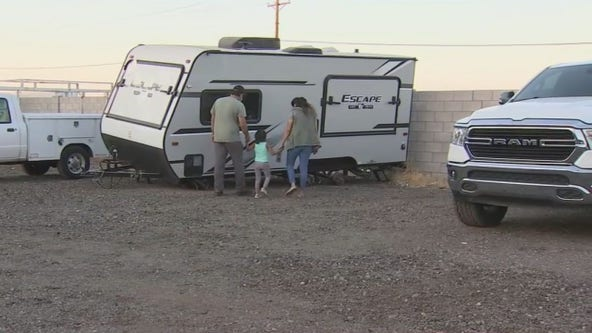 Family devastated after camper gifted by Make-A-Wish Foundation was vandalized at Phoenix storage yard