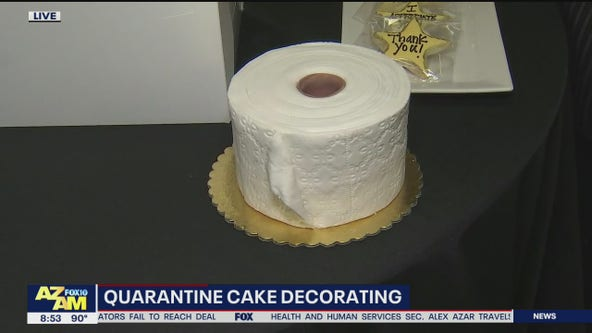 Decorating cake during a time of quarantine