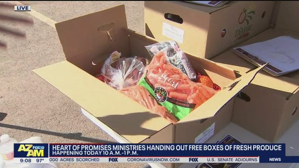 Heart of Promises Ministries' free food box giveaway