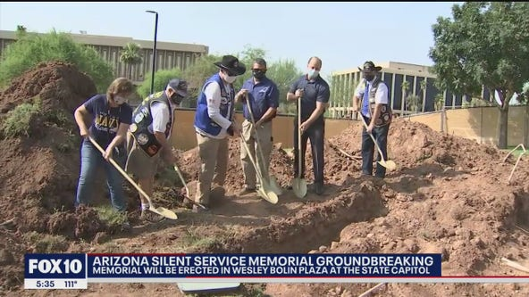 Arizona Silent Service Memorial groundbreaking in front of the Arizona State Capitol