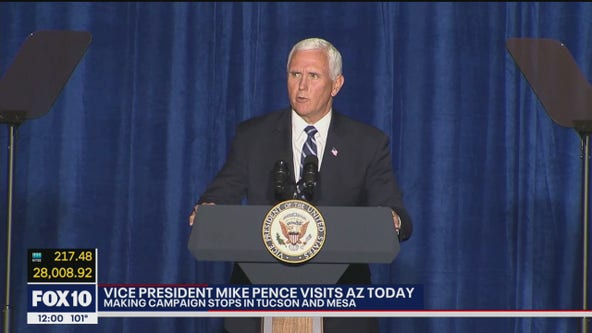 Vice President gives speech in Tucson as part of Arizona campaign swing