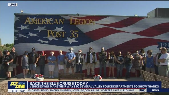 Back the Blue Cruise: Groups make their way to several Valley police departments to show their thanks