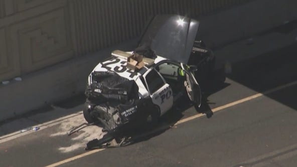 Mesa Police officer hurt following crash on US 60