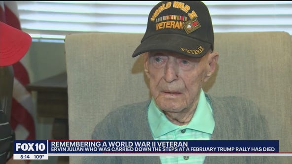 WWII veteran honored by Trump at Phoenix rally dies