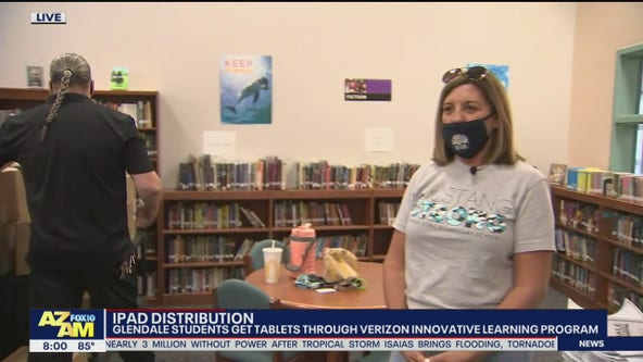 Glendale students receive tablets to help with transition to virtual learning