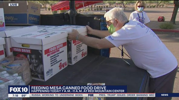 Feeding Mesa holds canned food drive