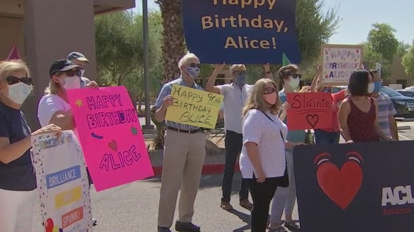Scottsdale woman celebrates 90th birthday with drive-by parade