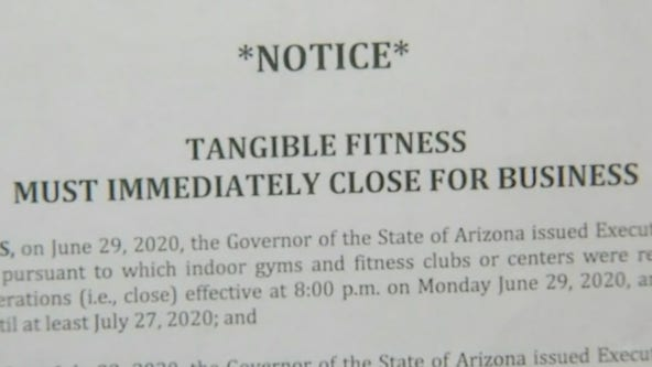 State demanding Phoenix's Tangible Fitness to close after reopening despite governor's orders