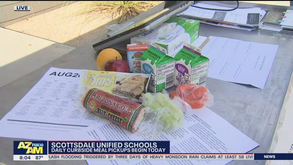Scottsdale Unified School District offering curbside meal pickups