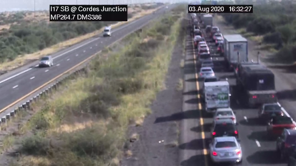 ADOT: Brush fire caused freeway closure, heavy traffic backup on I-17