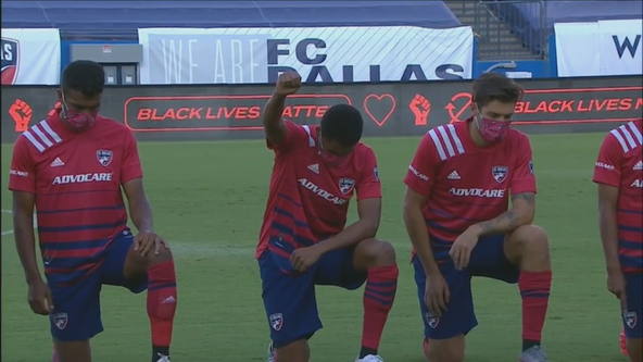 Fans boo FC Dallas players kneeling during national anthem
