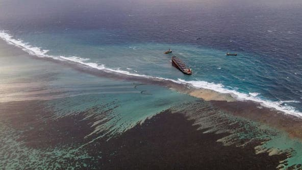 Mauritius races to contain oil spill, protect coastline