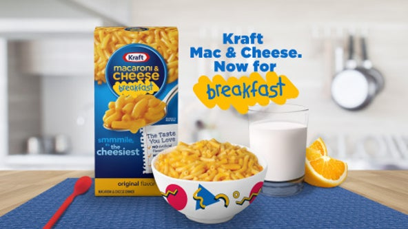 Mac and cheese is now breakfast food, according to Kraft