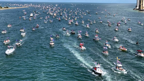 Trump supporters set sail in Clearwater in attempt to set world record