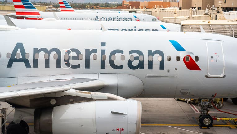 American Airlines aircrafts seen at Phoenix Sky Harbor