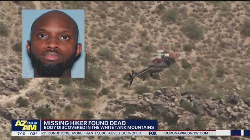 Missing hiker found dead in the White Tank Mountains