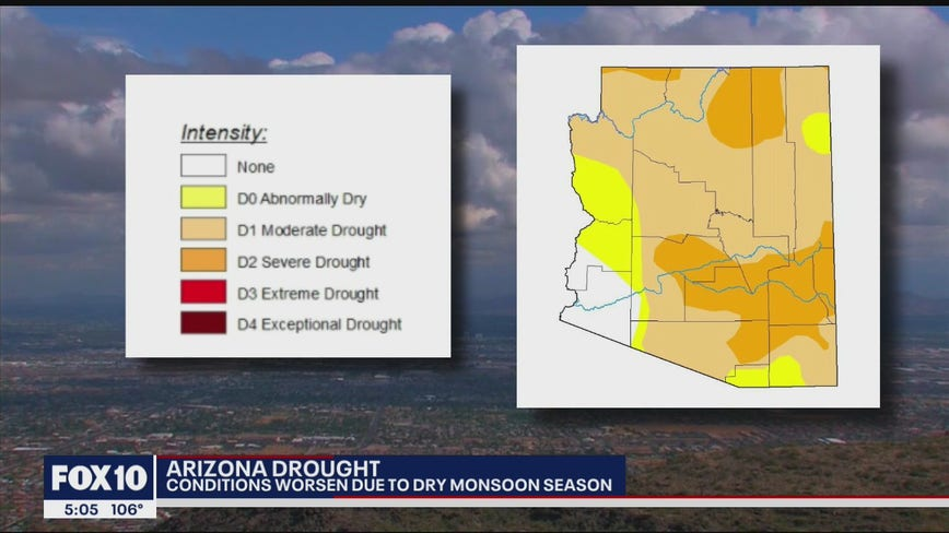 Drought conditions worsen in Arizona due to dry monsoon season