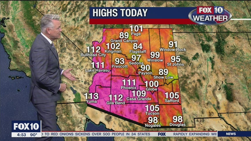 Excessive Heat Warning continues throughout Arizona; Valley ties high temperature record for August 3