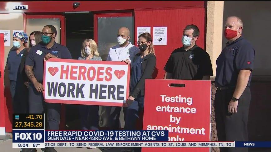CVS offering free, rapid COVID-19 testing in Glendale