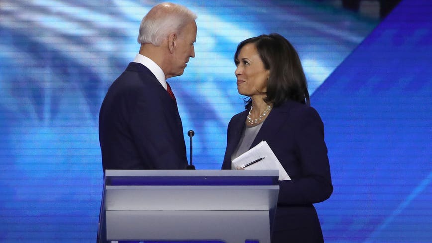 Joe Biden and Kamala Harris make first appearance as running mates