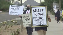 Valley airline employees rally outside of Senator McSally's office