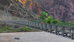 Silver Bridge temporarily closes in Grand Canyon National Park