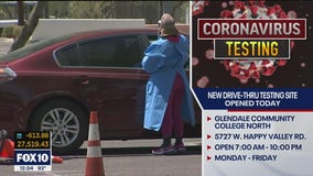 New drive-thru COVID-19 testing site opens in Glendale