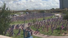Never forget: 9/11 Healing Field ceremony, reading of names held at Tempe Beach Park