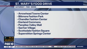 Metro Phoenix malls collecting donations for two major food banks