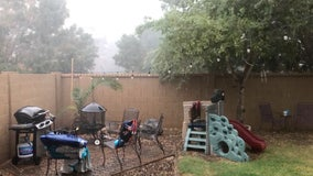Cleanup underway after monsoon storm brought hail, rain and wind to parts of the Valley