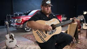 Country star Luke Combs teams up with Ford to donate $25G in guitars to vets managing PTSD