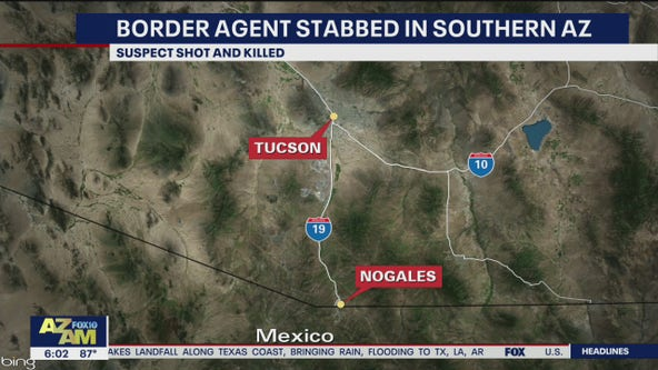 Border Patrol agent stabbed, suspect killed near Nogales